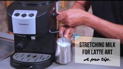Milk Stretching for latte art